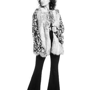 Rachel Zoe Bobine Faux - Fur Gray Vest size M